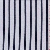 White/Midnight Stripe Sweatshirt Fleece