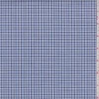 Dark Navy/Ink/White Mini Check Cotton Shirting