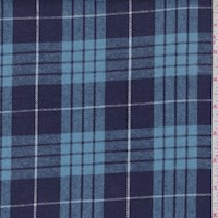 Violet Blue/Sky Plaid Flannel