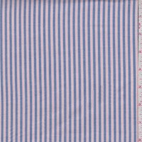 Ink Blue/Salmon Stripe Oxford Shirting