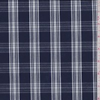 Navy/White Plaid Suiting
