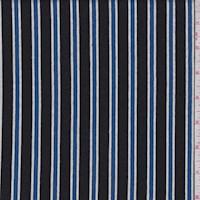Black/Sapphire Stripe Jersey Knit