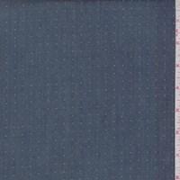 Vintage Denim Blue Pin Dot Cotton Poplin