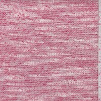Pale Red/White Brushed Boucle Knit