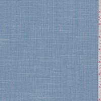 Chambray Blue Cross Hatch Linen Blend
