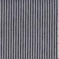 Black/White Stripe Linen Blend