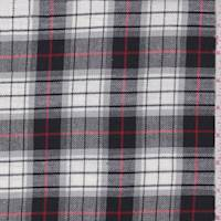 *3 YD PC--White/Black/Grey Plaid Flannel