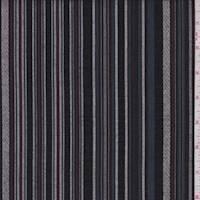 *2 YD PC--Slate Blue/Black Stripe Shirting