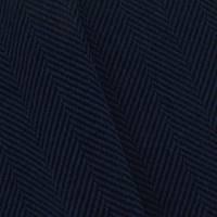 *1 5/8 YD PC--Deep Indigo/Black Wool Blend Herringbone Jacketing