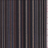 *1 YD PC--Mocha/Black Stripe Shirting