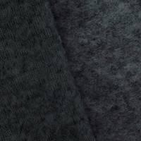 *1 5/8 YD PC--Thunder Black Wool Blend Texture Sweatshirt Fleece