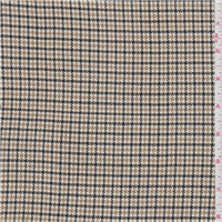 *2 YD PC--Black/Gold Check Suiting