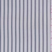 *3 YD PC--Pearl Grey/Pewter Stripe Shirting