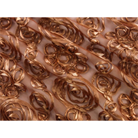 *1 3/8 YD PC--Copper Brown Swirl Ribbon Mesh