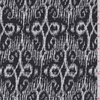 *1 YD PC--Black/White Baroque Jacquard Sweater Knit