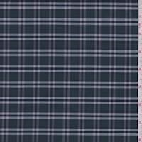 *1 3/8 YD PC--Spruce Green Plaid Cotton Shirting