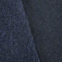 *3 YD PC--Dark Navy Blue Wool Blend Sweatshirt Fleece