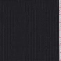 *1 3/8 YD PC--Black/Silver Broken Stripe Wool Suiting