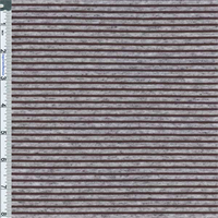 *2 1/2 YD PC--Grey/Black Flecked Stripe Jersey Knit