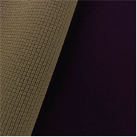 *3 1/2 YD PC--Gridded Soft Shell Fleece - Mulberry Purple/Hazelwood Beige