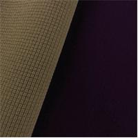 *5 YD PC--Gridded Soft Shell Fleece - Mulberry Purple/Hazelwood Beige