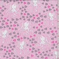 Pink Octopi Print Cotton