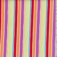"Paprika ""Sunrays Stripe"" Print Cotton"