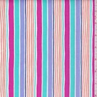 "Lavender ""Sunrays Stripe"" Print Cotton"