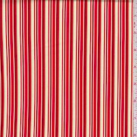 "Red ""Baby Stripe"" Print Cotton"