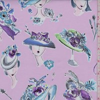 "Orchid Pink ""Hats On"" Print Cotton"