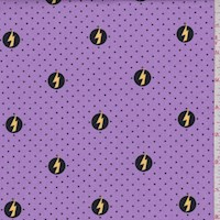 "Purple ""Power Shield"" Print Cotton"