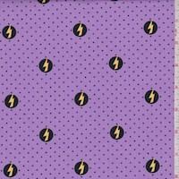 "Purple ""Power Shield"" Print Cotton"