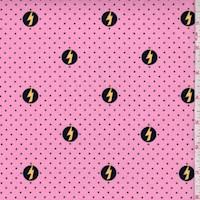 """Pink """"Power Shield"""" Print Cotton"""