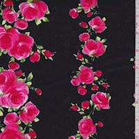 "Black Noir ""Divine"" Rose Print Cotton"