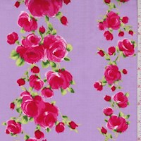 "Lavender ""Divine"" Rose Print Cotton"