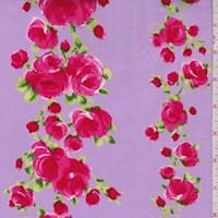 "Lavender ""Divine"" Rose Print Cotton"