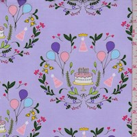 "Lavender ""Cake Mirror"" Print Cotton"