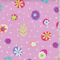 """Pink """"Dotty"""" Print Cotton"""