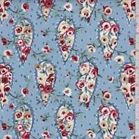 """Wedgewood """"Rambling Rose"""" Print Cotton"""