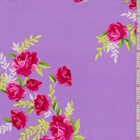 "Lavender ""Starlet"" Rose Print Cotton"