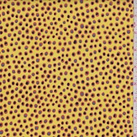 """Yellow """"Spotted"""" Print Cotton"""