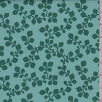 "Green Botanical ""Janie"" Print Cotton"