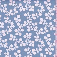 "Stone Blue Botanical ""Janie"" Print Cotton"