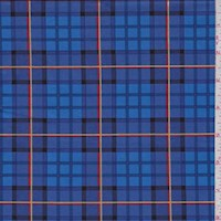 "Royal ""Nutcracker Plaid"" Print Cotton"