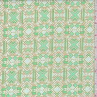 "Mint ""Metropolis"" Print Cotton"