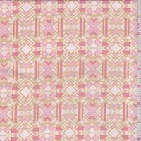 """Pink """"Metropolis"""" Print Cotton"""