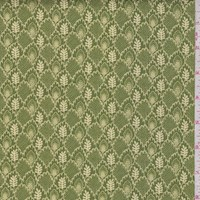 "Moss Green ""Imprint"" Print Cotton"