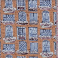 "Neutral ""City View"" Print Cotton"