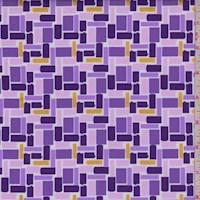 "Purple ""Rise Above"" Print Cotton"