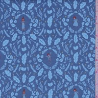 "Blue ""Girls Are Much Too Clever"" Print Cotton"